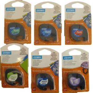 Dymo-Beschriftsband-LetraTag-Letra-Tag-LT-91220-91221-weiss-Papier-Plastik-12mm