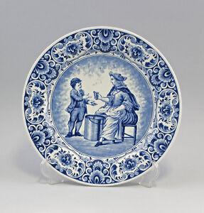 99845081-Ceramica-Grande-Piatto-Decorazione-Blu