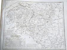Belgique gravure carte géographique Monin 1835 (c11-11)