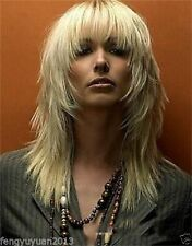 New Fashion wig New Charm Men's Medium Long Light Blonde Full wig
