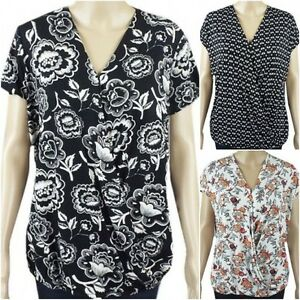 NEW-Ex-George-Ladies-Jersey-Cross-over-Casual-Summer-Top-Size-8-24