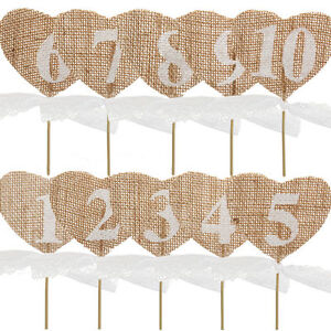Hessian-Table-Numbers-1-10-Burlap-Heart-Wedding-Party-Vintage-Rustic-Shabby-Chic