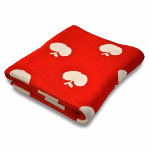 Wohndecke Kuscheldecke Decke Kinderdecke Sofadecke Schlafdecke Überwurf Apple