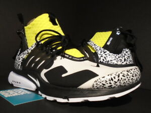 more photos 4faff 350bc Details about 2018 NIKE AIR PRESTO MID / ACRONYM WHITE BLACK DYNAMIC YELLOW  AH7832-100 NEW 10