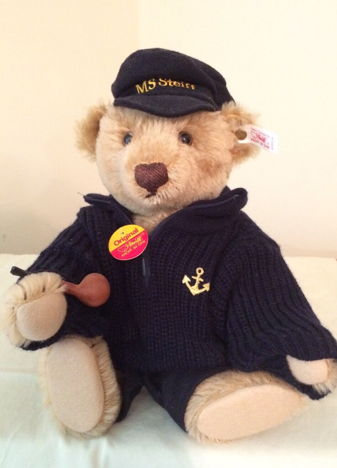 Steiff - Steiff Fisher Teddy With Pipe -   670114 - Limited Edition