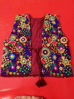 Details about  /Festival handmade kochi l Fashion vestcost Afghan