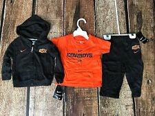 NIKE OKLAHOMA STATE 3 PIECE HOODIE SWEATPANTS T-SHIRT BABY COMBO 6-9 MONTHS NEW