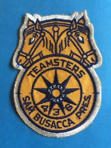 Details about Vintage Teamsters Local 436 Sam Busacca Cleveland Ohio  Uniform Jacket Hat Patch