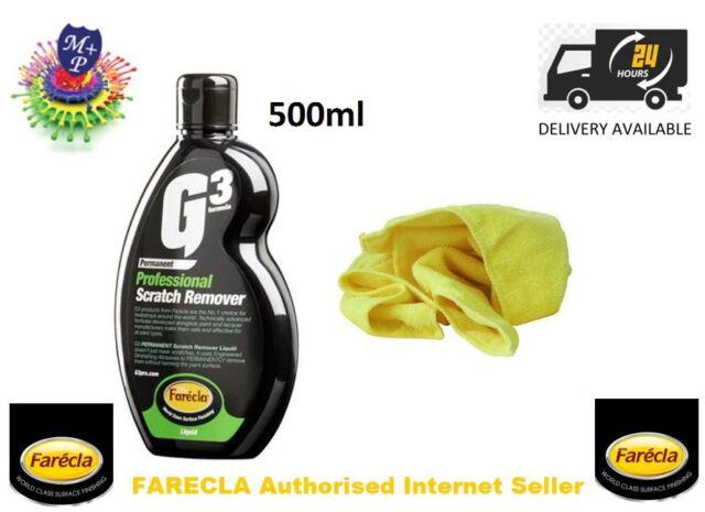 FARECLA G3 PRO SCRATCH REMOVER 7164 LIQUID 500ML car,van,bike + MICROFIBRE CLOTH