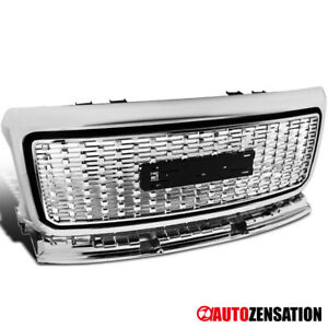 Fits-2015-2018-GMC-Canyon-Pickup-Truck-Chrome-Front-Bumper-Hood-Grille-1PC