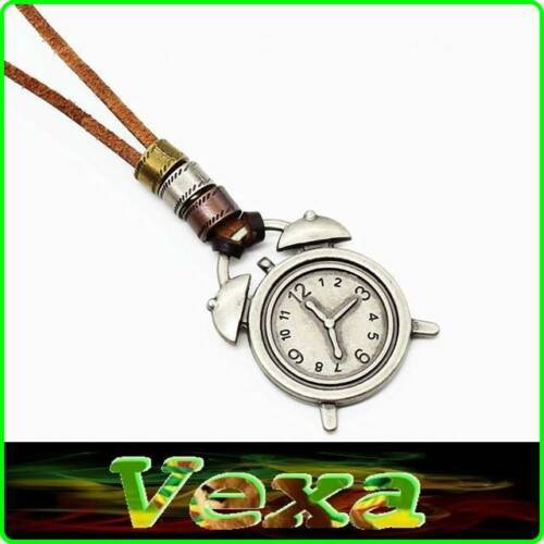 SURFER Leather Necklace Thong with Pendant 10 kinds Owl Skull Key Cross chain UK