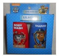 Kids Paw Patrol 2 Pc Bath Set Shampoo & Body Wash Nick Jr. Stocking Stuffer
