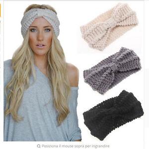 Fascia per capelli larga lavorata a maglia con nodo turbante ... 70e36c573ad8