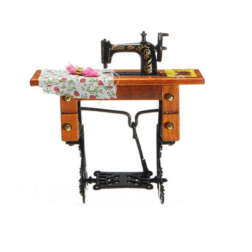 1:12 Miniature Decorated Sewing Machine Furniture Toys for  Doll House HP