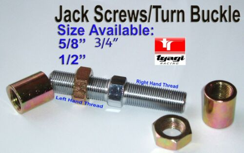 LH Short Linkage Rod adjustmenter VARIOUS SIZES Jackscrew Turnbuckle Set RH