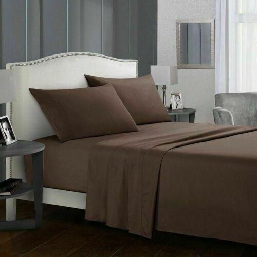 Deep Pocket 4 Piece Bed Sheet Set 1800 Count Egyptian Comfort Sheets Hotel G6