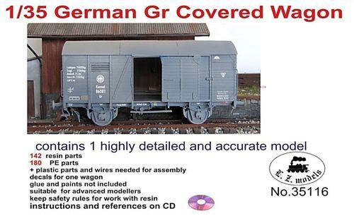 LZ MODELS GERMAN GR COVErouge WAGON 1 35 35116