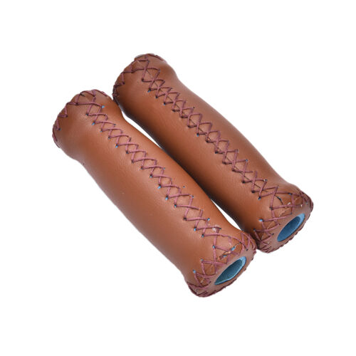 Vintage Artificial Leather Cycling MTB Road Mountain Bike  Handlebar Grip Ends F