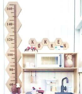 Baby-Kids-Growth-Chart-Wooden-Hanging-Height-Ruler-Wall-Decals-Children-60-160cm