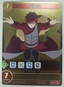 Details About X1 Naruto Boruto Card Game Gaara Full Art Foil Nb01 28 B Chrono Clash System