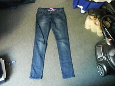 "And & SQIN Jeans Waist 30"" Leg 33"" Faded Dark Blue Ladies Jeans"