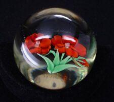 Orient & Flume Flower Glass Paperweight