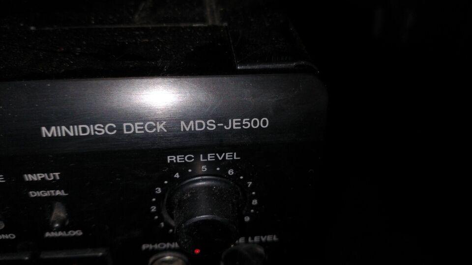Minidisc afspiller, Sony, Mds-je500