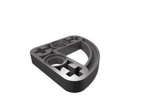 10 x [neu] LEGO Technik Liftarm flach 3x3 - 1/4 Kreis - dunkel-blaugrau - 32249