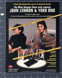 JOHN-LENNON-amp-YOKO-ONO-The-Mike-Douglas-Show-Orig-1998-Trade-print-AD-promo