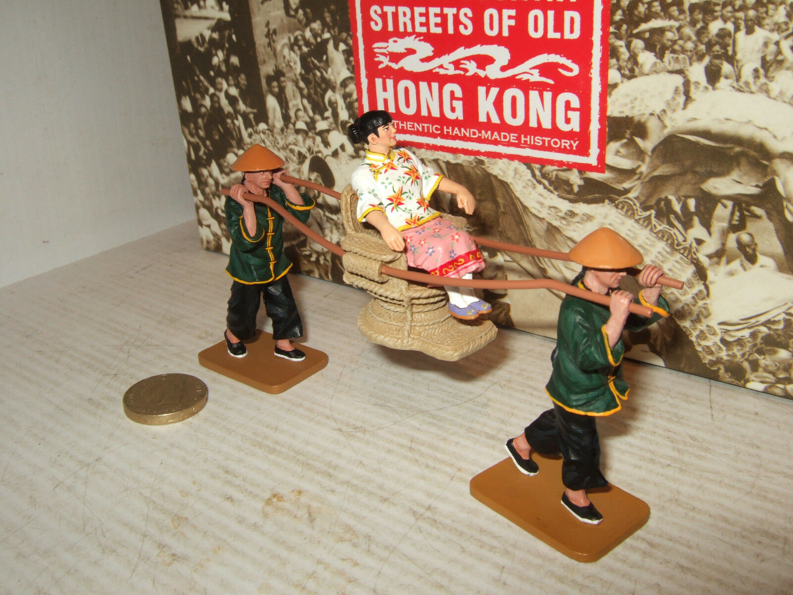 King and Country HK173M Streets of Old Hong Kong Sedan Chair Figure Set 1 30.