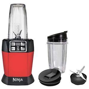 Ninja auto iq nutri ninja 1000w blender red bl483 certified