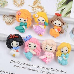 10 pcs DIY Resin Princesses Mixed Colors Cabochons Decors Craft Making 2-3cm