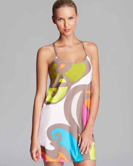 NWT  Sz XS Trina Turk New Pop Wave Swim Cover Tunic Dress