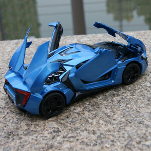 Lykan-Hypersport-Sound-amp-Light-Model-Cars-1-32-Blue-Toys-Gifts-Alloy-Diecast-New
