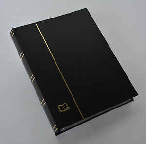 COLLECTA-Luxus-60 schw. Seiten A4 Briefmarkenalbum Einsteckbuch Einband schwarz