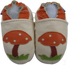 carozoo  mushroom cream 3-4y soft sole leather toddler shoes