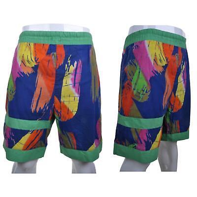 Vintage shorts 90s pineapple palm Hawaiian board shorts 90/'s vntg cotton orchid tropic shorts