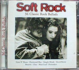 Soft-Rock-36-Classic-Rock-Ballads-1996-Eric-Clapton-Simple-Minds-CD-DOPPIO