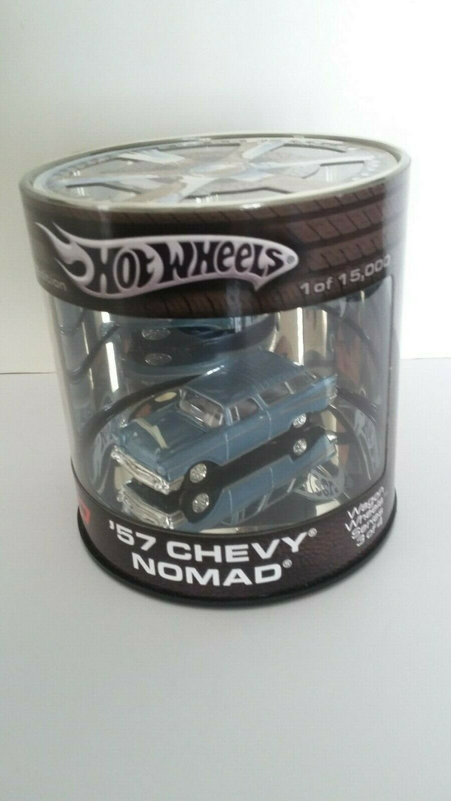 Hot Wheels Oil Can '57 Chevy Nomad Wagon Wheels Series bluee
