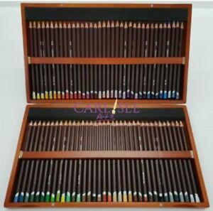 Details About Derwent Coloursoft Wooden Box Pencil Set Of 72