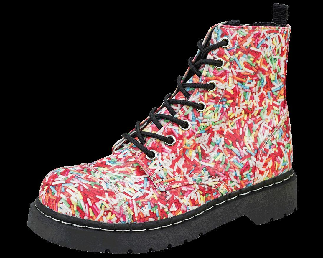 T.U.K. T2239 Tuk Schuhes HundROTs & Thousands 7 Sprinkles Eye Combat Stiefel Rainbow Sprinkles 7 56b170