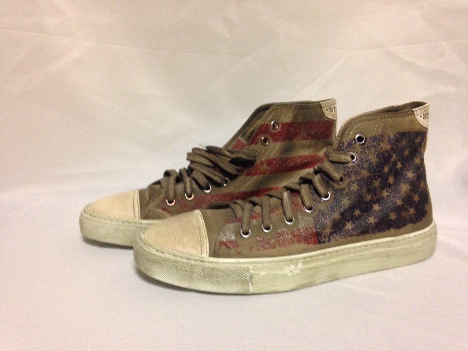 Studswar American  Round Toe Canvas Distributed High scarpe da ginnastica Chalk Cotton NWB  benvenuto a comprare