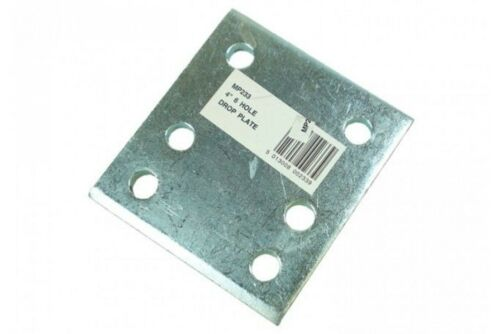"""4/"""" Tow Ball Drop Plate with 6 Holes Zinc Plated MP233"""