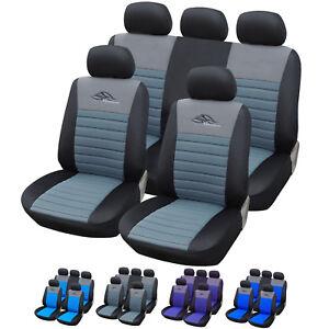 auto sitzbez ge sitzbezug schoner f r pkw ohne seitenairbag schwarz grau as7319 ebay. Black Bedroom Furniture Sets. Home Design Ideas