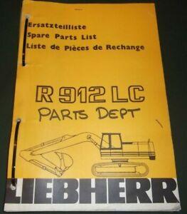Details about LIEBHERR R-912-LC EXCAVATOR PARTS MANUAL BOOK CATALOG