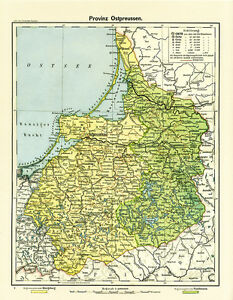 Karte Ostpreußen.Details Zu Provinz Ostpreussen Königsberg Allenstein Bezirke Karte Deutsches Reich Rahx 565