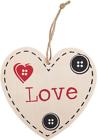 Jones Home and Gift HO_29224 Wooden Love Hanging Heart Plaque