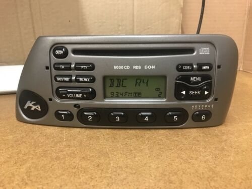 Ford Ka 6000 Cd Rds In Warm Steel Car Radio Stereo Head Unit Cd Player With Code