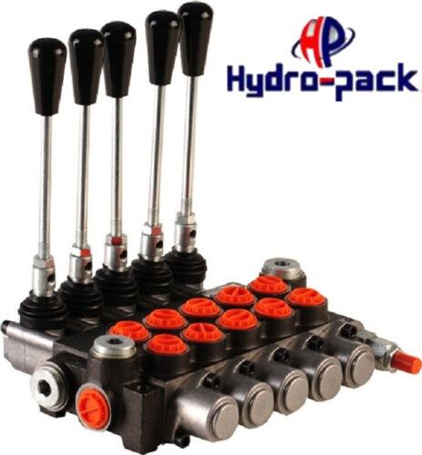 """Hydraulikventil Handsteuerventil 40L Handhebelventil Monoblock 5 fach 3//8/"""""""