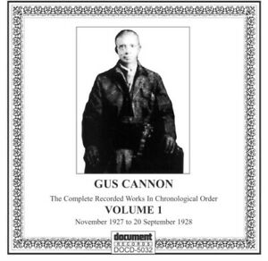 Gus Cannon - Vol. 1-(1927-28) [New CD]